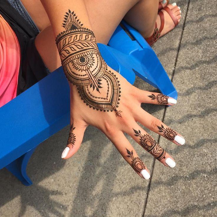 Blue Henna Tattoo: Blue...blue...#needmoreblue!