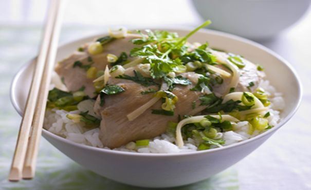 Chicken with Ginger, Shallots and Coriander   Thomas Dux