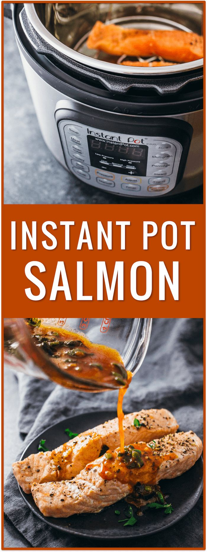 Salmon in Chili Lime Sauce (Instant Pot) - exclude honey for Keto