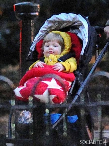 Adele and baby-daddy Simon Konecki bundle up 13 month-old Angelo for a stroll through a park in London. Description from socialitelife.com. I searched for this on bing.com/images