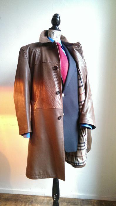 Online veilinghuis Catawiki: Burberry London - Leren lange jas