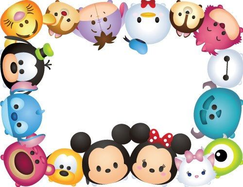 ️ Tsum Tsum Party Theme Letter Size Place Mats Three