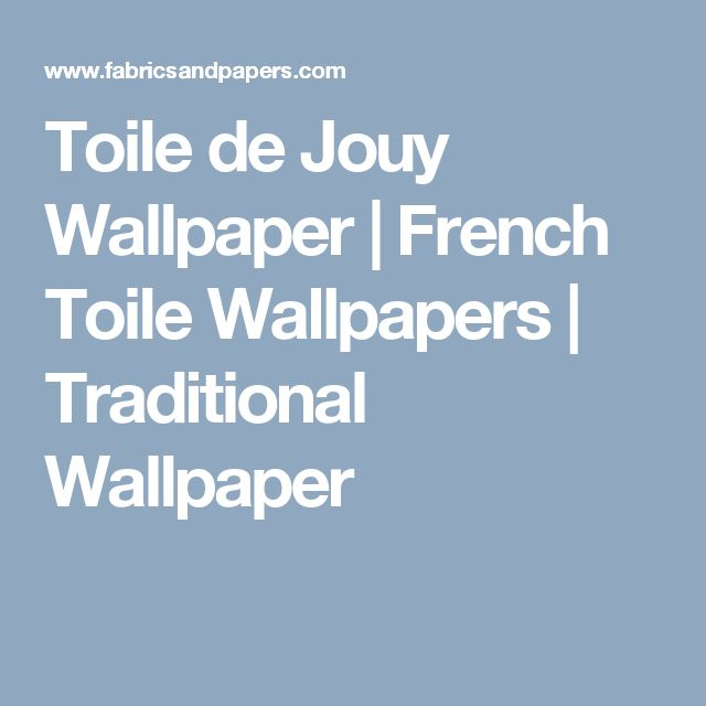 Toile de Jouy Wallpaper | French Toile Wallpapers | Traditional Wallpaper