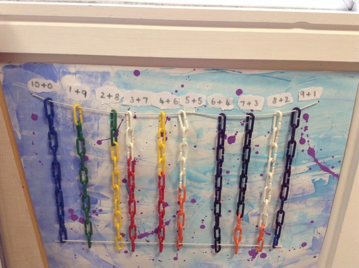 These colored links are great for teaching students about number bonds. To figure out a math problems students can create a chain with different colors to represent the different numbers in the math sentence. The total number of links in the chain would be the answer to the problem.