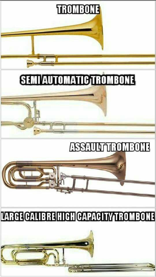 Trombones....  (You'll learn about trombones too.)