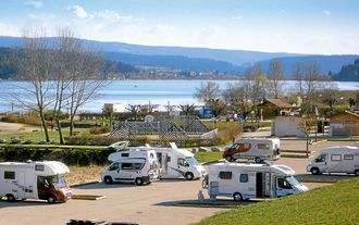 Saint Point Lac Womo-Stellplatz, Region Franche-Compté, Frankreich