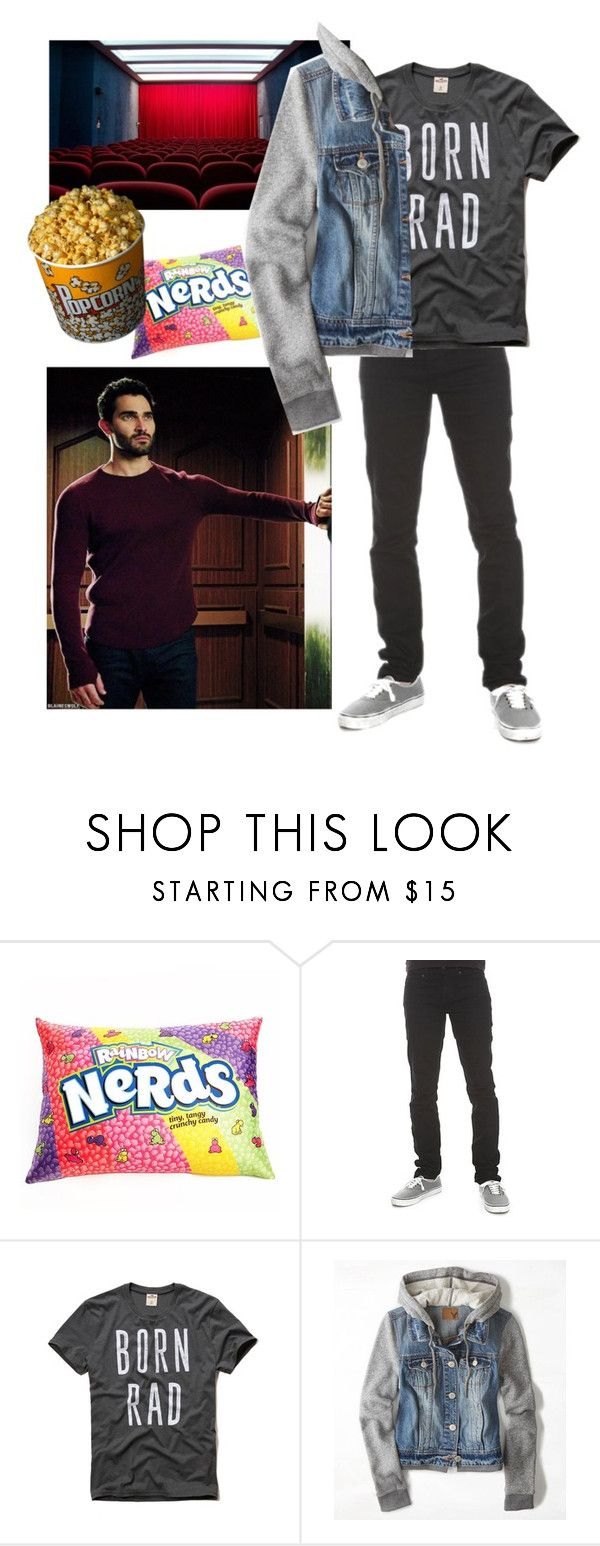 """""""Sterek date"""" by ugly-model ❤ liked on Polyvore featuring Hot Topic, Hollister Co. and American Eagle Outfitters"""