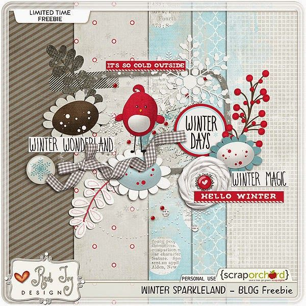 Quality DigiScrap Freebies: Hurry! Winter Sparkleland mini kit freebie from Red Ivy Designs