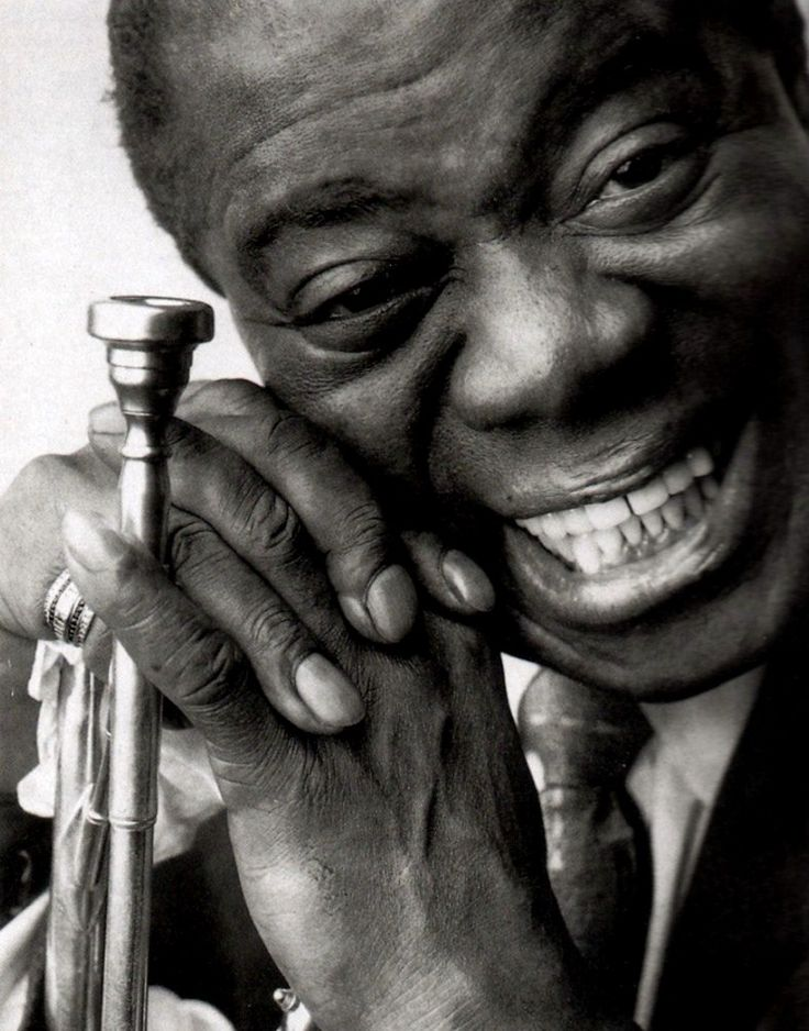 Louis Armstrong, New Orleans, 1901 - 1971...musician -singer..Armstrong was a foundational influence in Jazz. Renowned for his charismatic stage presence and voice almost as much as for his trumpet playing.