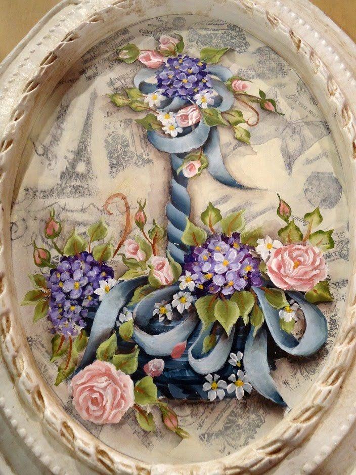 Como hacer pintura americana en un cuadro vintage Silvia Mongelos (+lista de reproducción)