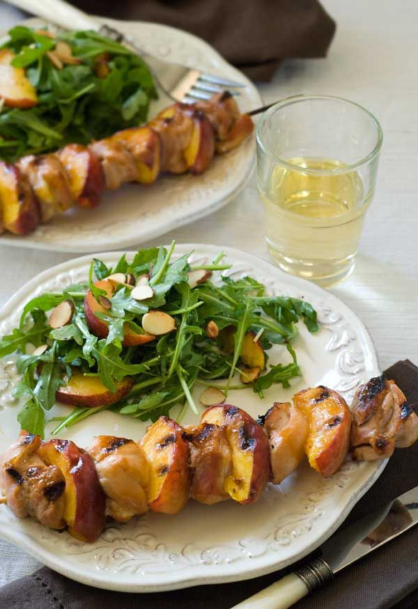 relish lamb and peach skewers with cucumber feta relish c mon peach ...