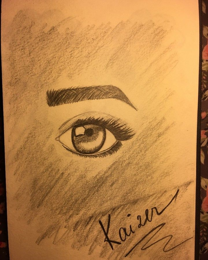 My first eye ever (at least the one that looks natural)  #eye #kaizerart #drawing #humans #sketch