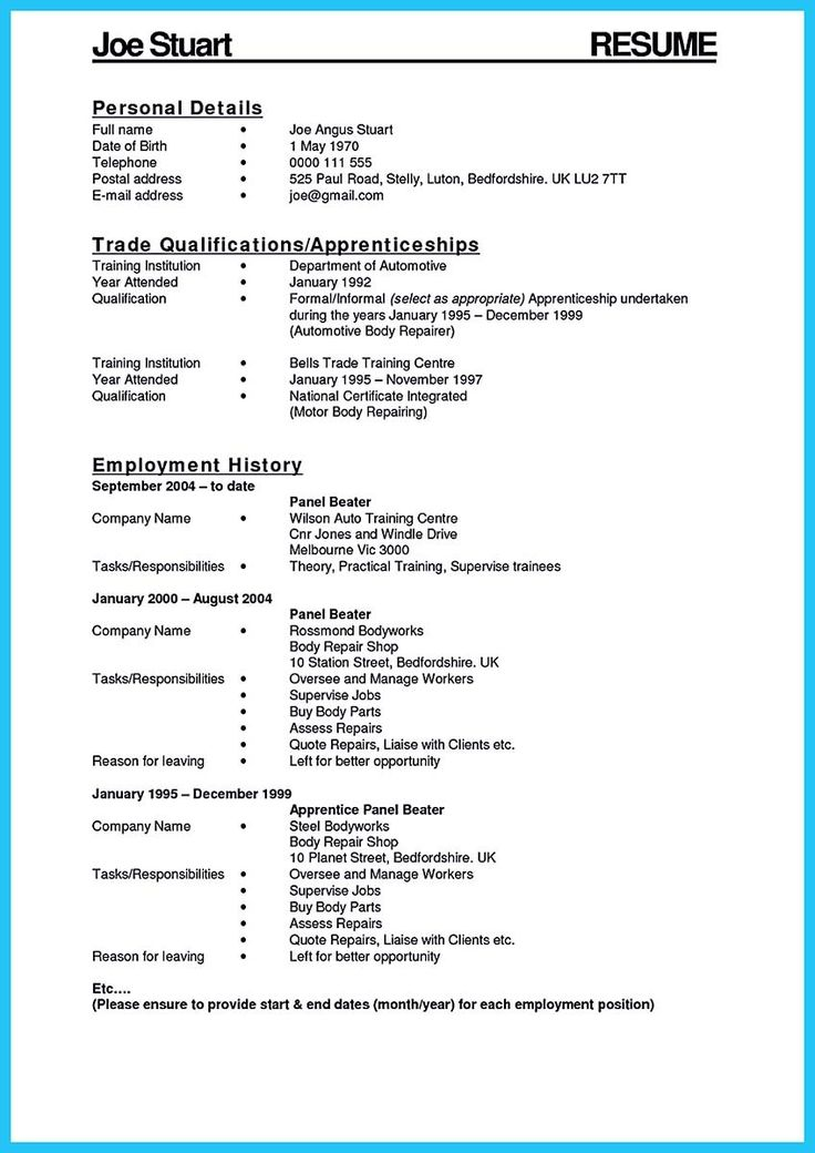 awesome Delivering Your Credentials Effectively on Auto Mechanic - car body repair sample resume