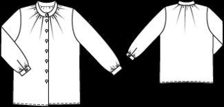 Schnittmuster: Bluse - Stehkragen - Blusen - Blusen & Tuniken - Damen - burda style