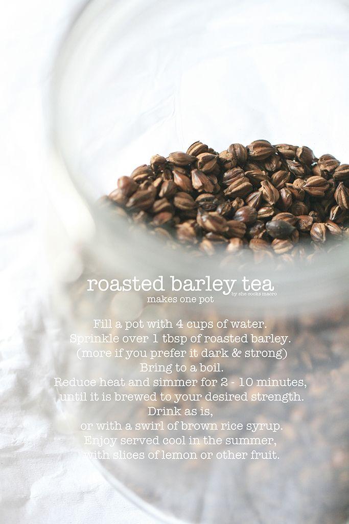 roasted barley tea recipe- click for printable recipe download
