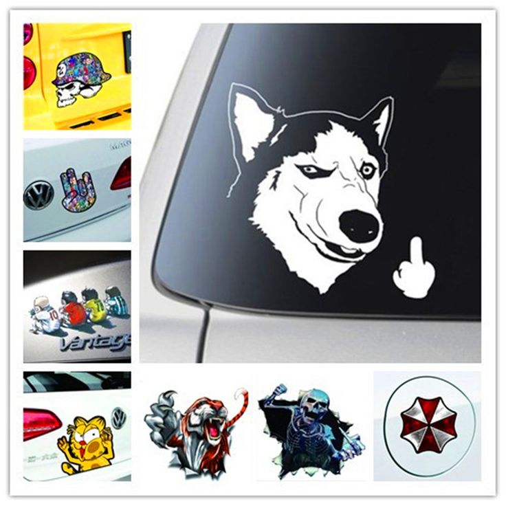 New 3d Funny Cartoon Auto Car Walls Windows Sticker Anime Bumper Decals Stickers Skull Styling Exterior Accessories Whole Body