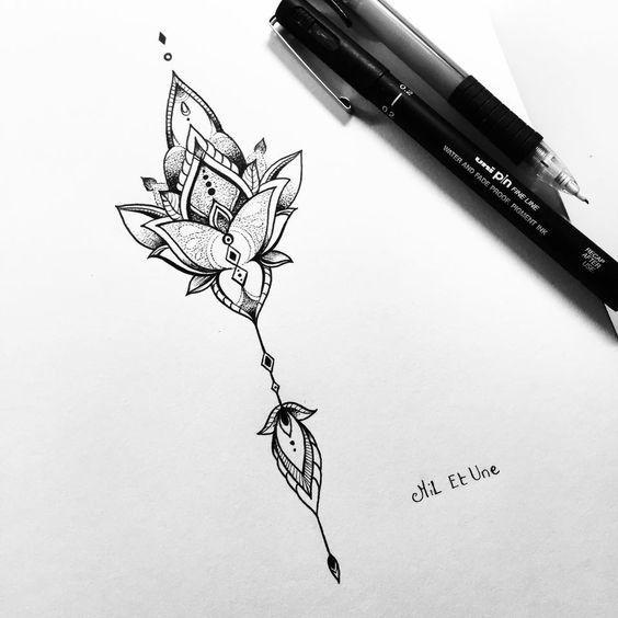 Tattoo • Flower • Drawing •