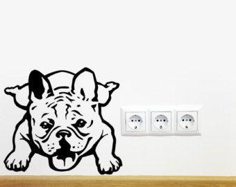 Dog Decal French Bulldog Melancholy Vinyl Sticker by PSIAKREW