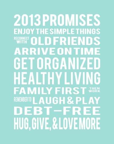 New Years Resolution Print