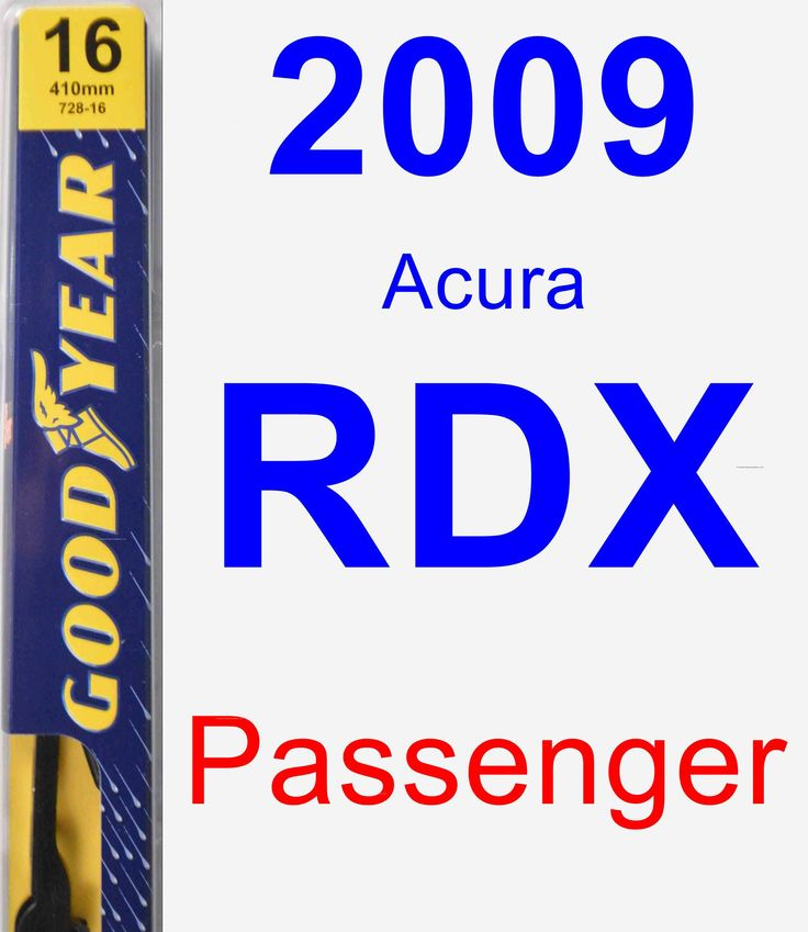 Passenger Wiper Blade For 2009 Acura RDX - Premium