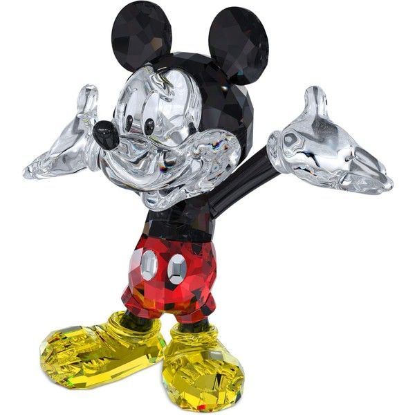Rediscover the magical world of Disney with the one and only Mickey Mouse. The iconic character shines in this faceted crystal figurine, featuring the fine craf...