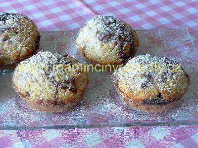 Jablečné muffiny s nutelou