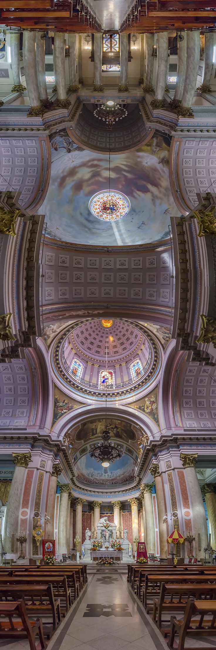 Photographer Captures Stunning Vertical Panoramas of Churches in NYC and Around the World | Untapped Cities