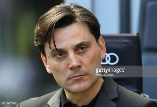 04-23 MILAN, ITALY - APRIL 23: AC Milan coach Vincenzo…... #montella: 04-23 MILAN, ITALY - APRIL 23: AC Milan coach Vincenzo…… #montella