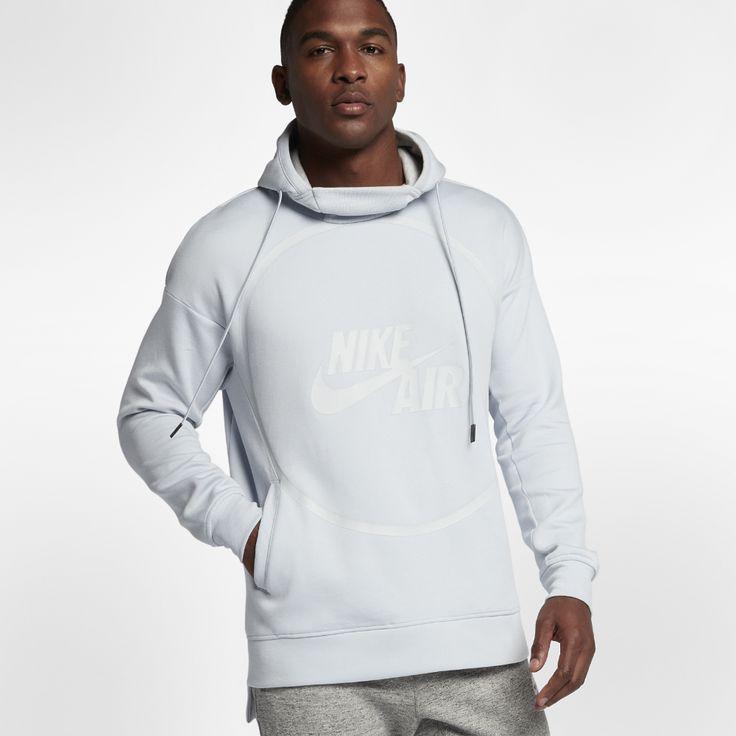 Nike Air Men's Fleece Hoodie Size Medium (Silver)