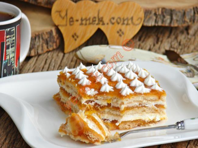 Bal Kabaklı Bisküvi Pastası Resimli Tarifi - Yemek Tarifleri