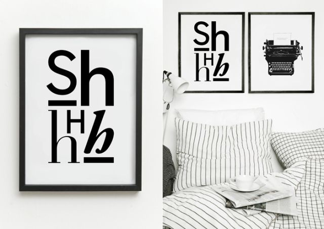 Póster Shhilence Print de One Must Dash. ¡Dale una nueva imagen a tu casa! #oneMustDash #poster #lamina #print #artPrint #decoration #decoracion #estiloescandinavo #scandinavian #estilonordico