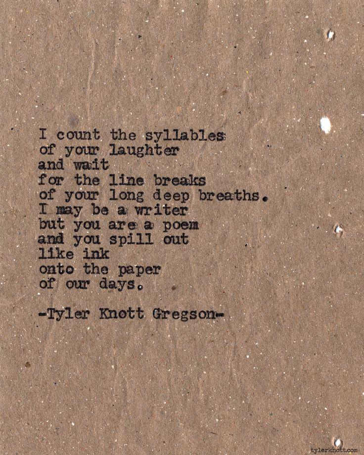I am a writer, & you, my poem.