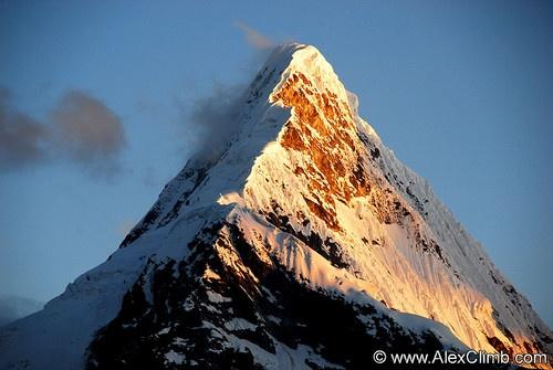 Artusanraju, Peru, the mountain from the Paramount ...
