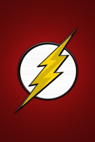 DC The Flash Logo iPhone Wallpaper Flash wallpaper
