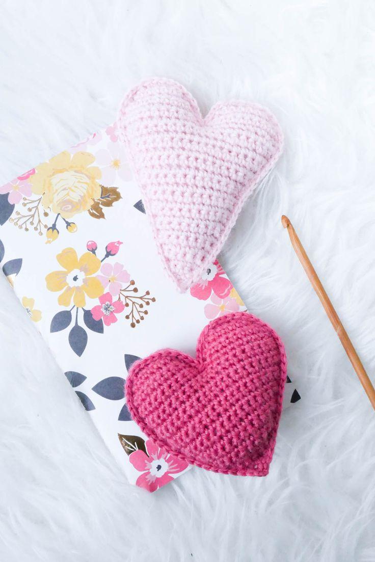 Einfache Herzen häkeln- ein schnelles last-Minute Valentinstags DIY – Mein gehäkeltes Herz