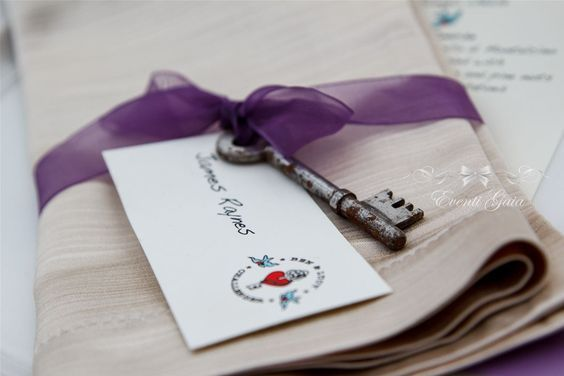 Secret Garden Key as place cards
