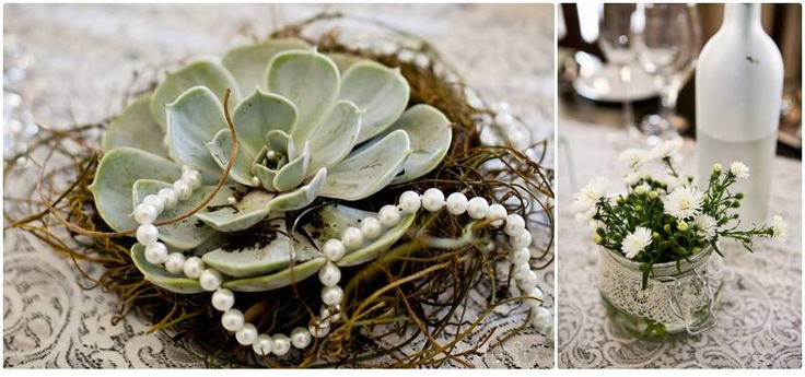 Lace and pearls... elegant