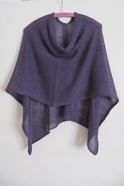 Very Easy Poncho A Free Knitting Pattern By Cara Carina