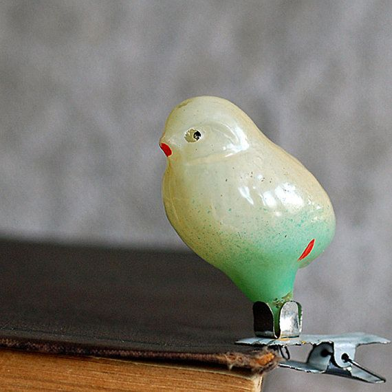 bird antique Christmas ornament с. 1950 by JunqueTreasures on Etsy