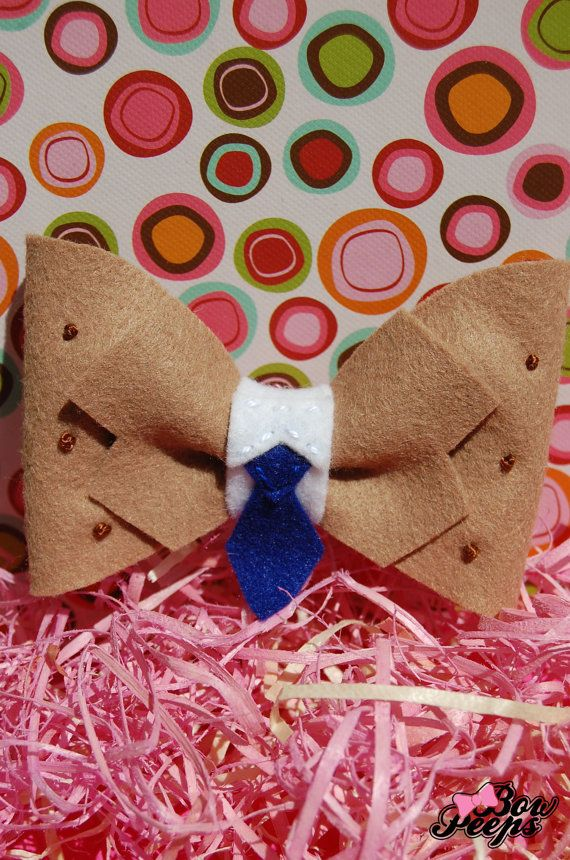 Castiel Inspired  Supernatural  Hair Bow  Made to by FeltNBow, $5.00