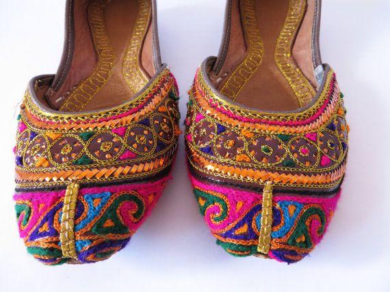 Pink Indian Pakistan Shoes Punjabi Women's Mens by VintageDreamBox