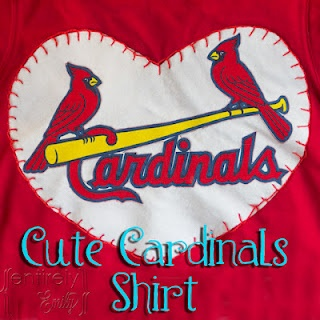 Entirely Emily: A Cute Saint Louis Cardinals Girl's Shirt