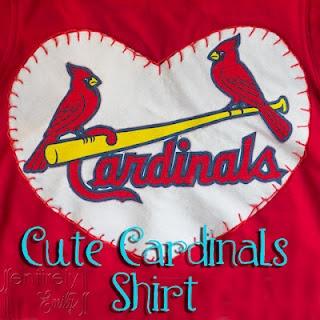 Entirely Emily: A Cute Saint Louis Cardinals Girl's Shirt