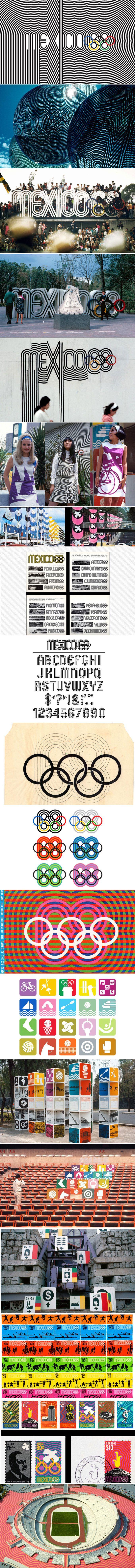 México 68 Olympics by Pedro Ramírez Vázquez & Lance Wyman