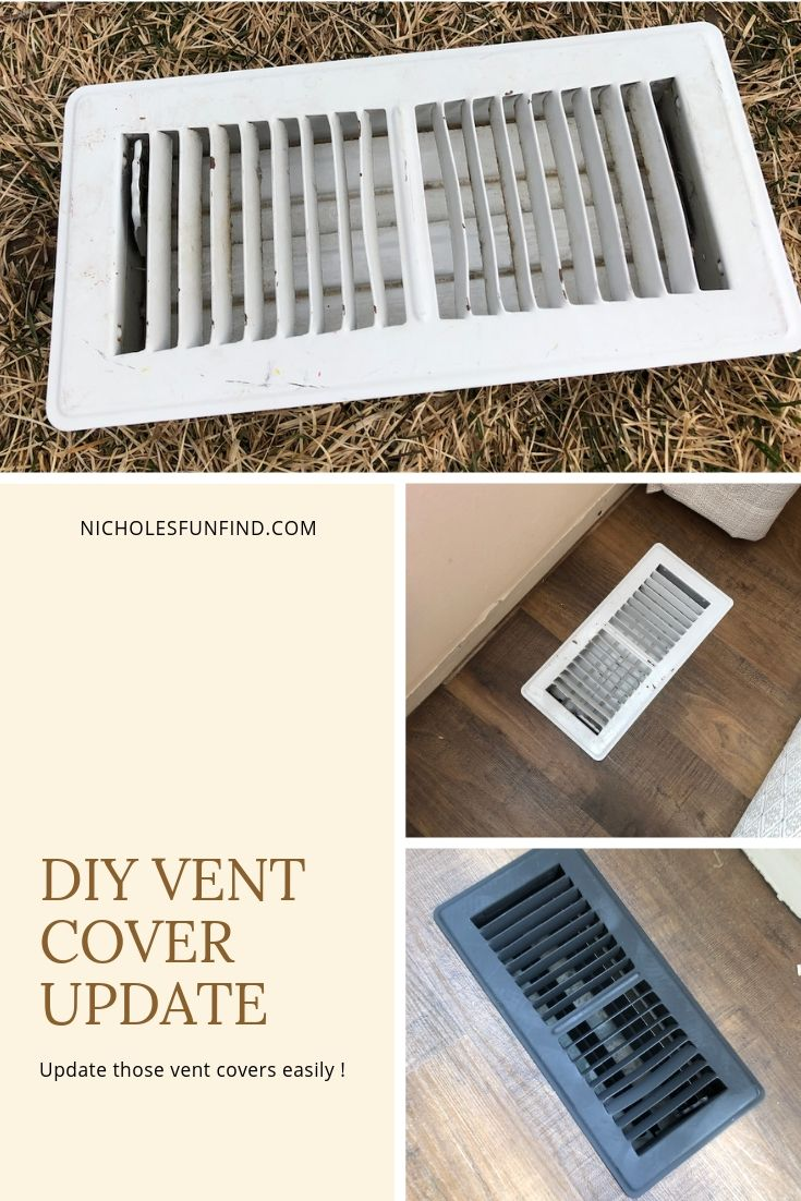 Diy Vent Cover Update Nichole S Fun Finds Vent Covers Floor