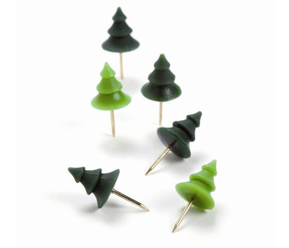 tree drawing pins