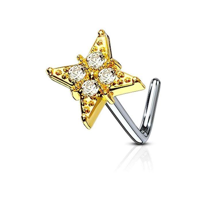 Star Logo Labret Monroe 14G Surgical Steel Lip Jewelry