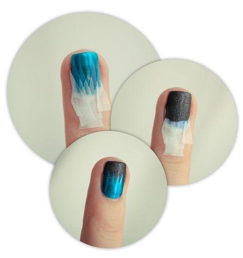Best 25+ Tape nail designs ideas on Pinterest | DIY nails ...