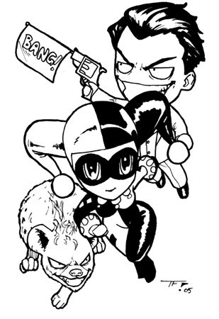 chibi harley and joker by timflanagan