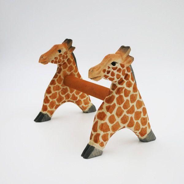 長頸鹿 MT Tape 膠紙座 / Giraffe MT Tape Holder  A very special Masking Tape holder, the magnet to hold the stick and giraffe planks.  Material: wood, magnet  #statiionery #wood